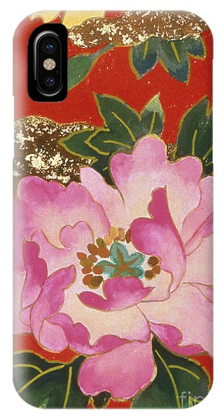 Peony iPhone Case - Agemaki Crop IIi by MGL Meiklejohn Graphics Licensing