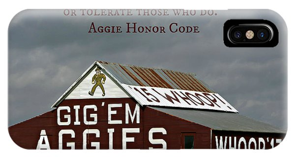 Aggie iPhone Case - Aggie Honor by Stephen Stookey