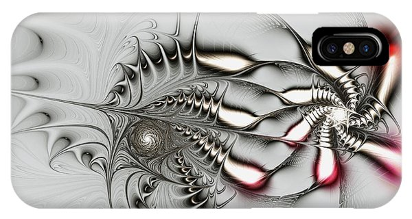 Abstract iPhone Case - Aggressive Grey by Anastasiya Malakhova