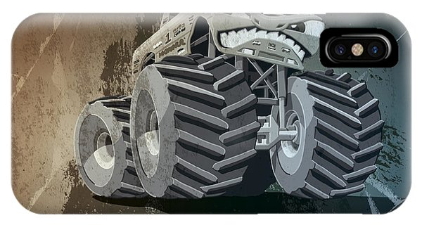 Aggressive Monster Truck Grunge IPhone Case