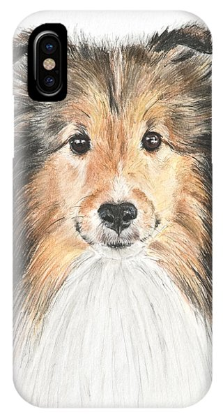 Agility Dog Sheltie In Pastel IPhone Case