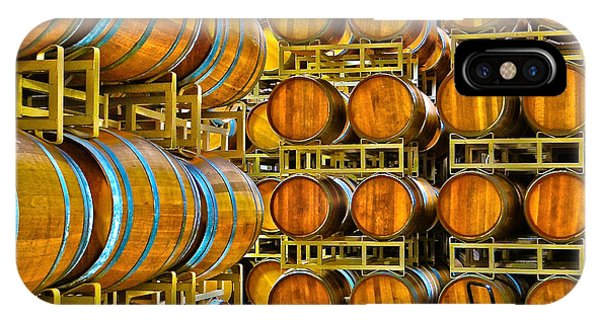 Aging Wine Barrels IPhone Case