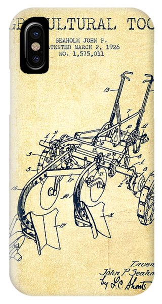 Agricultural Tool Patent From 1926 - Vintage IPhone Case
