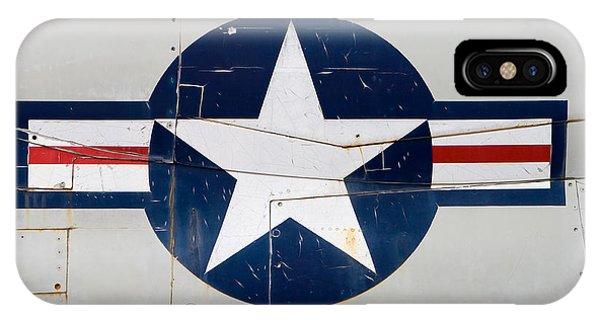 Yorktown iPhone Case - Air Force Logo On Vintage War Plane by Stephanie McDowell