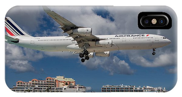 Air France Landing At St. Maarten IPhone Case