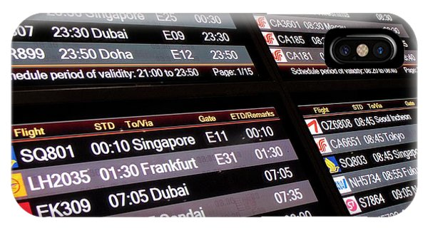 Departure iPhone Case - Aircraft Departures Board In Beijing by Mark Williamson/science Photo Library