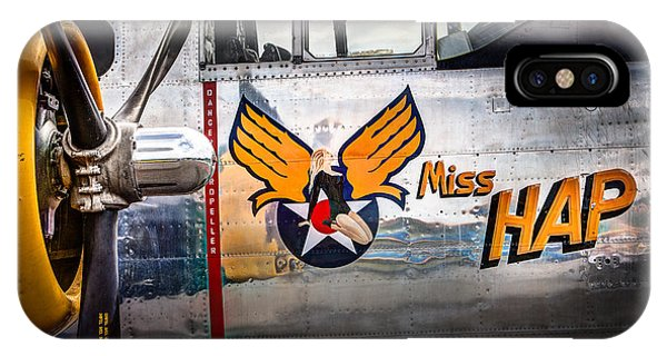 Aircraft Nose Art - Pinup Girl - Miss Hap IPhone Case