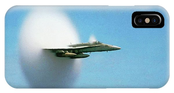 Department Of Defense iPhone Case - Aircraft Sonic Boom Cloud by Us Department Of Defense
