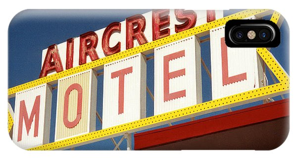 Seattle iPhone X Case - Aircrest Motel  by Jim Zahniser