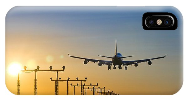 Airplane Landing At Sunset, Canada IPhone Case