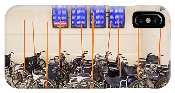 Departure iPhone Case - Airport Wheelchairs by Jim West