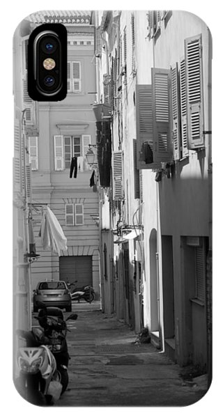 IPhone Case featuring the photograph Ajaccio Back Alley by Brad Brizek