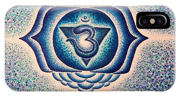 Ajna Third Eye Chakra  Phone Case by Andrew Zeutzius