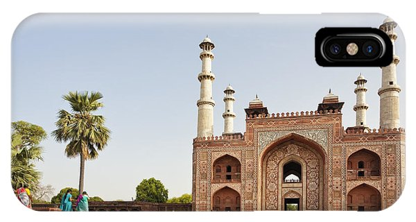 Akbar's Tomb In  India IPhone Case