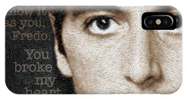 Al Pacino As Michael Corleone And Fredo Quote IPhone Case