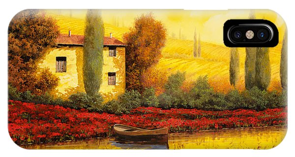 Sunset iPhone Case - Al Tramonto Sul Fiume by Guido Borelli