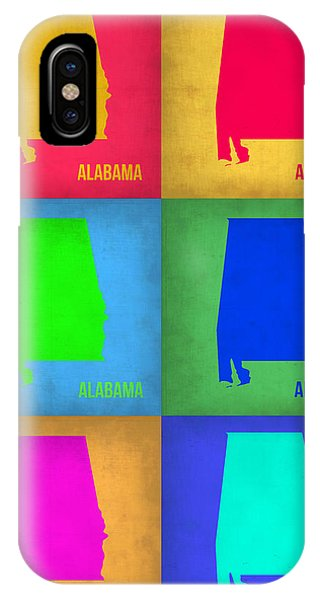 Alabama iPhone Case - Alabama Pop Art Map 1 by Naxart Studio