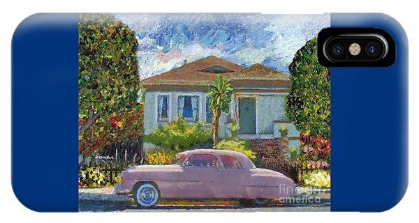 Alameda 1908 House 1950 Pink Dodge IPhone Case