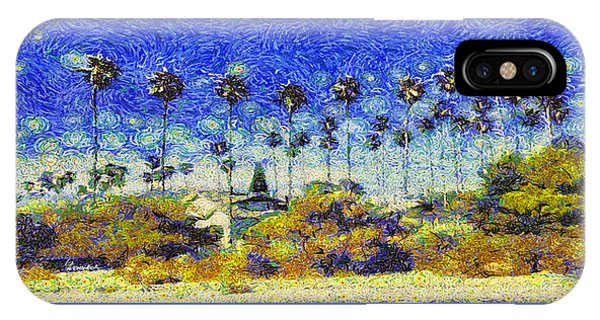 Alameda Famous Burbank Palm Trees IPhone Case