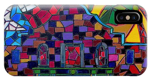 Alamo Mosaic Phone Case by Patti Schermerhorn