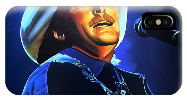 Country iPhone Case - Alan Jackson Painting by Paul Meijering