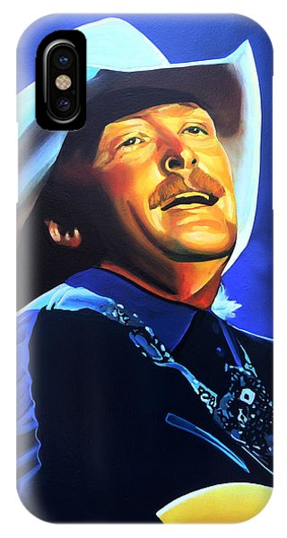 Popstar iPhone Case - Alan Jackson Painting by Paul Meijering