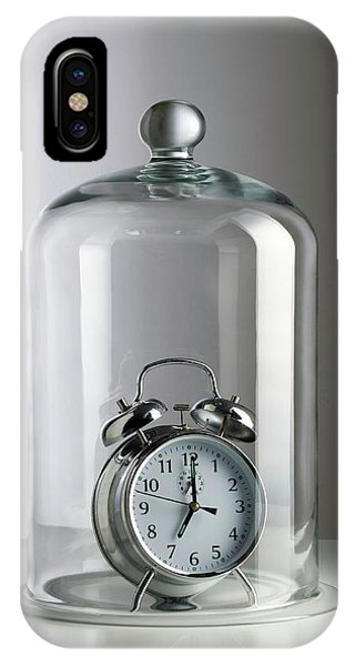 Alarm Clock Inside A Bell Jar Phone Case by Science Photo Library