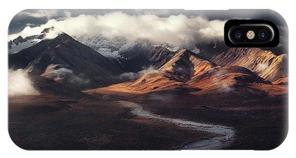 Creek iPhone Case - Alaska Range by Jerrywangqian