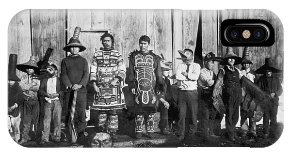 1895 iPhone Case - Alaskan Dancing Costumes by Underwood Archives