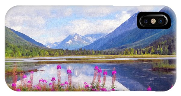 Alaskan Horizons Oil Painting IPhone Case