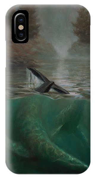 Humpback Whales - Underwater Marine - Coastal Alaska Scenery IPhone Case