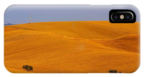 Trees In The Wheat Field IPhone Case