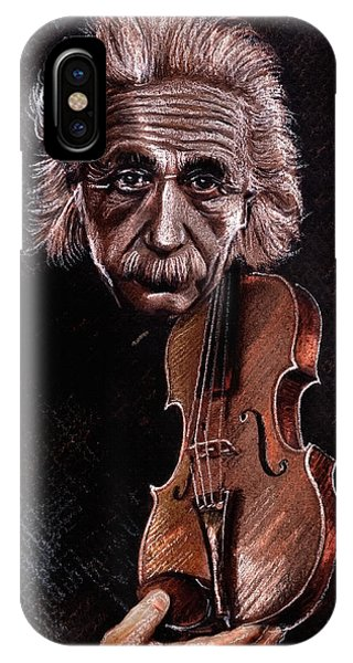 Albert Einstein And Violin IPhone Case