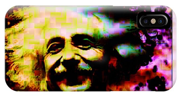 Imagery iPhone Case - Albert Einstein - Why Is It That Nobody Understands Me - Yet Everybody Likes Me by Elizabeth McTaggart
