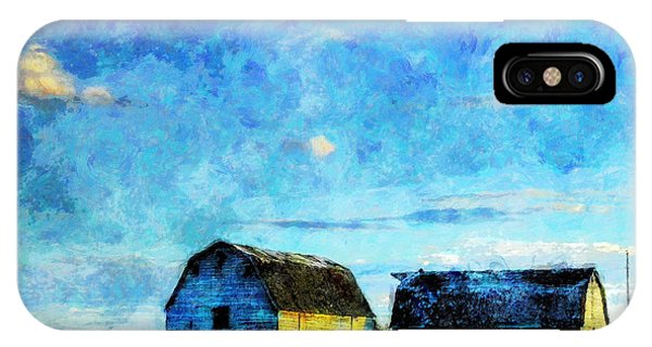 Alberta Barn At Sunset IPhone Case