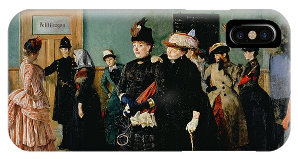 Albertine At The Police Doctors Waiting Room, 1886-87 IPhone Case