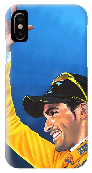 Discovery iPhone Case - Alberto Contador by Paul Meijering