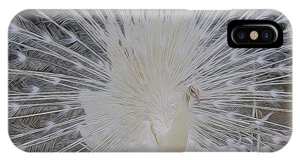 Albino Peacock IPhone Case