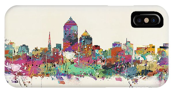 New Mexico iPhone Case - Albquerque New Mexico Skyline by Bri Buckley