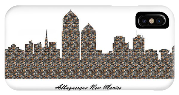 Albuquerque New Mexico 3d Stone Wall Skyline IPhone Case