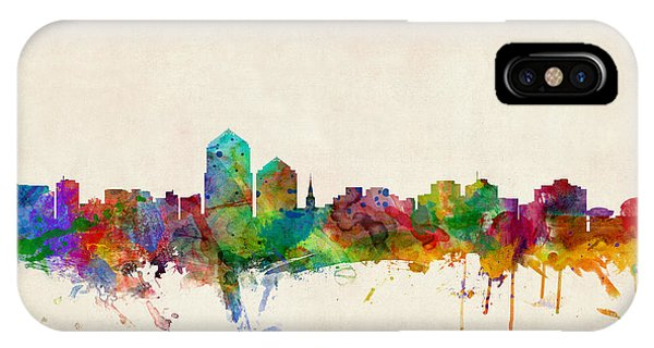 New Mexico iPhone Case - Albuquerque New Mexico Skyline by Michael Tompsett