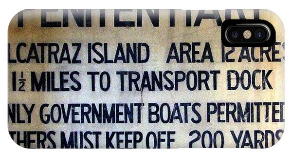 Alcatraz Warning IPhone Case