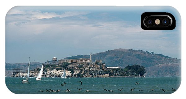 Alcatraz With Pelicans IPhone Case