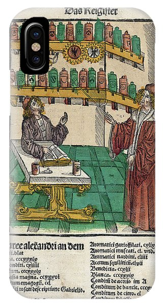 Potion iPhone Case - Alchemist With His Student by National Library Of Medicine