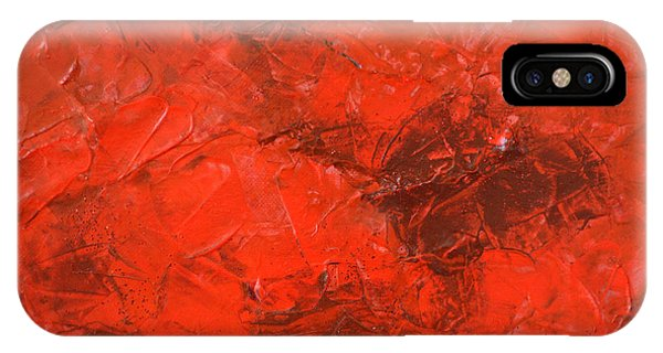 Alchemy In Red - Red Abstract By Chakramoon Phone Case by Belinda Capol