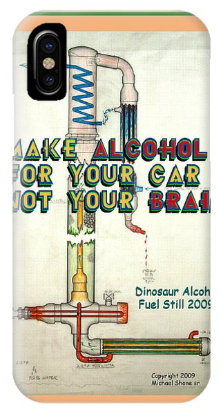 Alcohol For Car Not Brain Poster IPhone Case