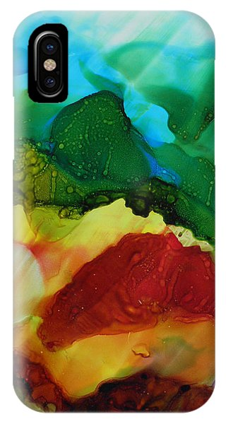 Alcohol Ink Landscape # 157 IPhone Case