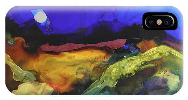Alcohol Ink Landscape # 164 IPhone Case