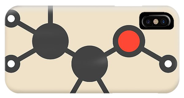 Alcoholism iPhone Case - Alcohol Molecule by Molekuul