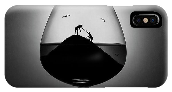 Reach iPhone Case - Alcoholism. The Hand Of Help by Victoria Ivanova